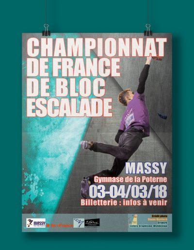 Affiche Championnat de France d'escalade