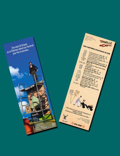 Marque page - Calendrier de tournée
