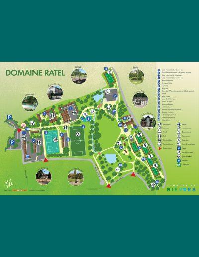 Plan de parc - Domaine Ratel - Bièvres